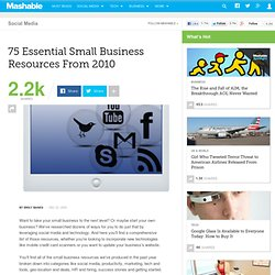 75 Essential Small Business Resources From 2010