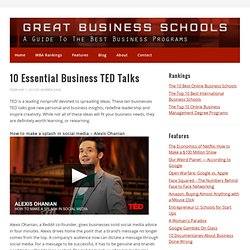 10 Essential Business TED Talks