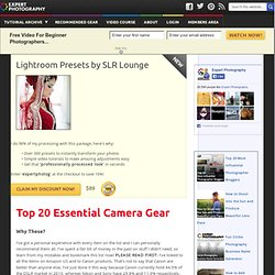 » Top 20 Essential Camera Gear