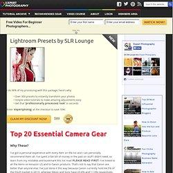 » Top 20 Essential Camera Gear
