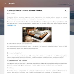 4 Items Essential In Canadian Bedroom Furniture