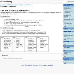 Essential Questions - chskendalleng