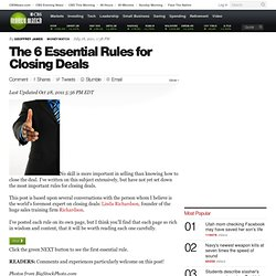 The 6 Essential Rules for Closing Deals | BNET
