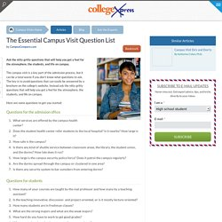 The Essential Campus Visit Question List