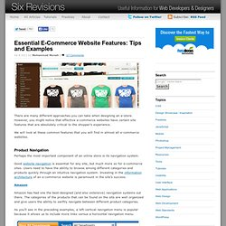 Essential E-Commerce Website Features: Tips and Examples