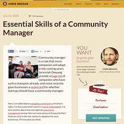 Essential Skills of a Community Manager
