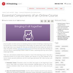 Essential Components of an Online Course