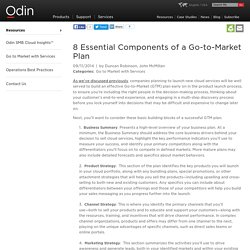 8 Essential Components of a Go-to-Market Plan - Odin