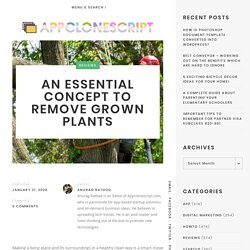 An Essential Concept to Remove Grown Plants