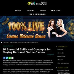 10 Essential Skills and Concepts for Playing Baccarat Online Casino - FUNWIN