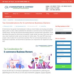 Tax for E-commerce Business - Essential Considerations