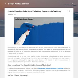 Essential Questions To Be Asked To Painting Contractors Before Hiring