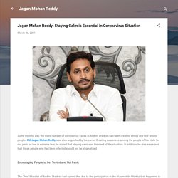 Jagan Mohan Reddy: Staying Calm is Essential in Coronavirus Situation