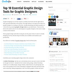 Top 10 Essential Graphic Design Tools for Graphic Designers