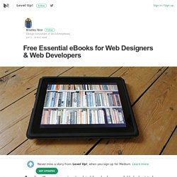 Free Essential eBooks for Web Designers & Web Developers