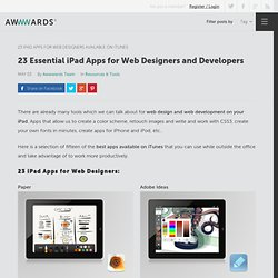 23 Essential iPad Apps for Web Designers and Developers
