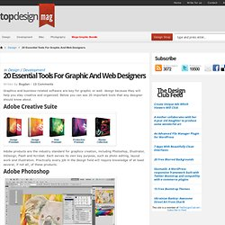20 Essential Tools For Graphic And Web Designers