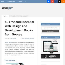 40 Free and Essential Web Design and Development Books from Goog