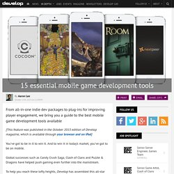 15 essential mobile game development tools