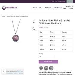 Antique Silver Finish Essential Oil Diffuser Necklace – The Oil Diffusery
