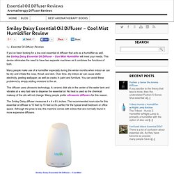 Smiley Daisy Essential Oil Diffuser - Cool Mist Humidifier Review - Essential Oil Diffuser Reviews