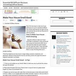 Make Your House Smell Good - Essential Oil Diffuser Reviews