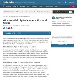 44 essential digital camera tips and tricks: Page 2