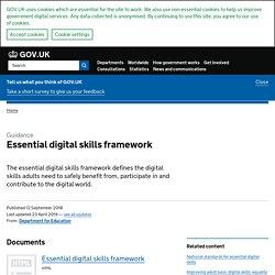 Essential digital skills framework (2018)
