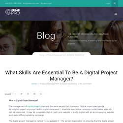 What Skills Are Essential To Be A Digital Project Manager?