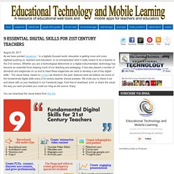 9 Essential Digital Skills for 21st Century Teachers