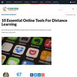 10 Essential Online Tools For Distance Learning - eLearning Industry