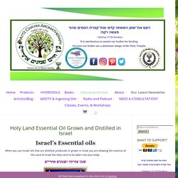 Holy Land Essential Oil Grown and Distilled in Israel - Aytz Chayim