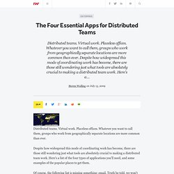 The Four Essential Apps for Distributed Teams - ReadWriteEnterpr