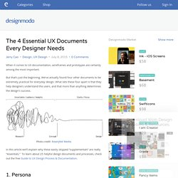 The 4 Essential UX Documents Every Designer Needs