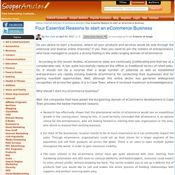 Four Essential Reasons to start an eCommerce Business