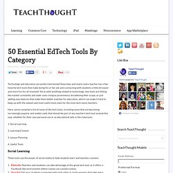 50 Essential EdTech Tools For 2012