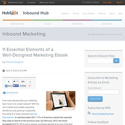 11 Essential Elements of a Well-Designed Marketing Ebook