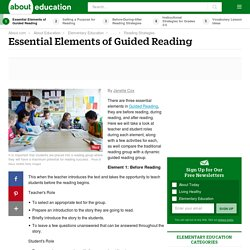 Essential Elements of Guided Reading
