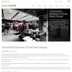 10 Essential Elements of Great Retail Design