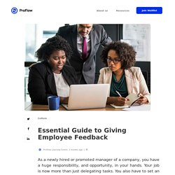 Essential Guide to Giving Employee Feedback