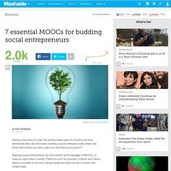 7 essential MOOCs for budding social entrepreneurs