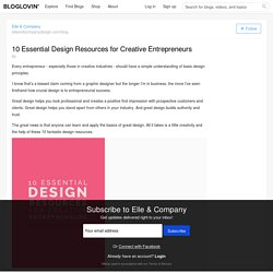 10 Essential Design Resources for Creative Entrepreneurs