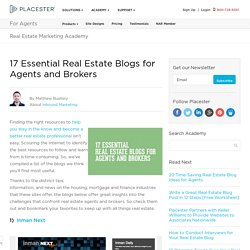 17 Essential Real Estate Blogs for Agents and Brokers