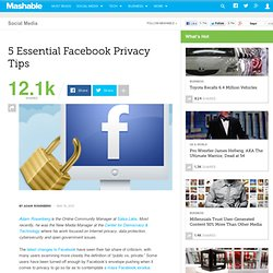 5 Essential Facebook Privacy Tips