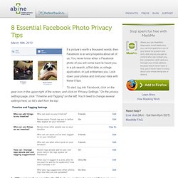 8 essential facebook photo privacy tips