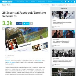 28 Essential Facebook Timeline Resources