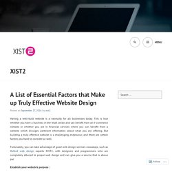 A List of Essential Factors that Make up Truly Effective Website Design