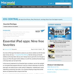 Essential iPad apps: Nine free favorites