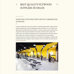 Essential Features and Uses of Commercial Plywood