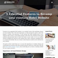 5 Essential Features to Revamp your existing Hotel Website